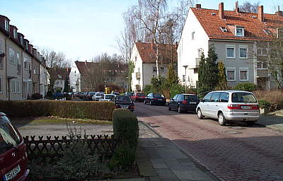 hinterer Teil der Straße Up Willmannsland